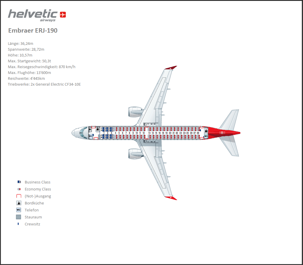 Embraer+190+Aircraft+Seating+Chart Embraer ERJ-190-100LR